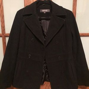 Black Kenneth Cole Peacoat